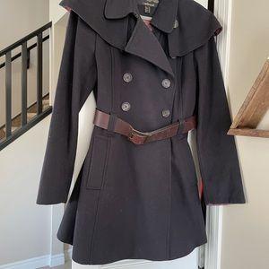 Ladies Barbour wool belted coat